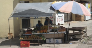 Fruit stands in the middle of town, San Ignacio Belize