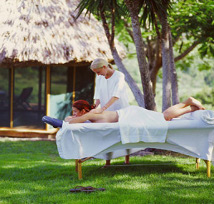 outdoor massage at Chaa Creek San Ignaico Belize