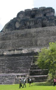 A shot of the main temple at Xunantunich - San Ignacio Belize